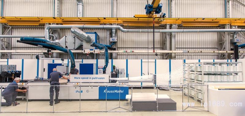 克劳斯玛菲技术活动日展出的iPul拉挤成型系统