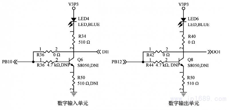 电容c6 用于输出端滤波,为 stm32 主控制器,485接口电路和数字量输入