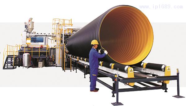 1钢带增强螺旋波纹管生产线