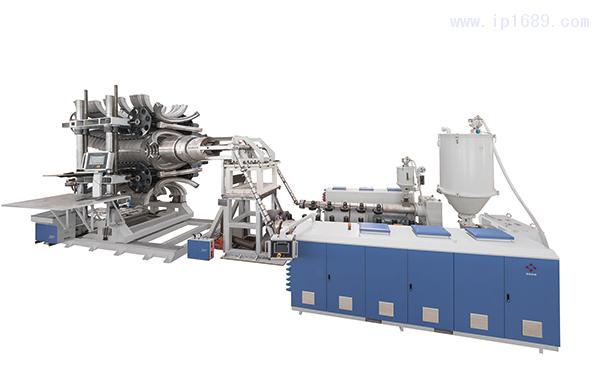 HDPEPPPVC-大口径立式双壁波纹管生产线