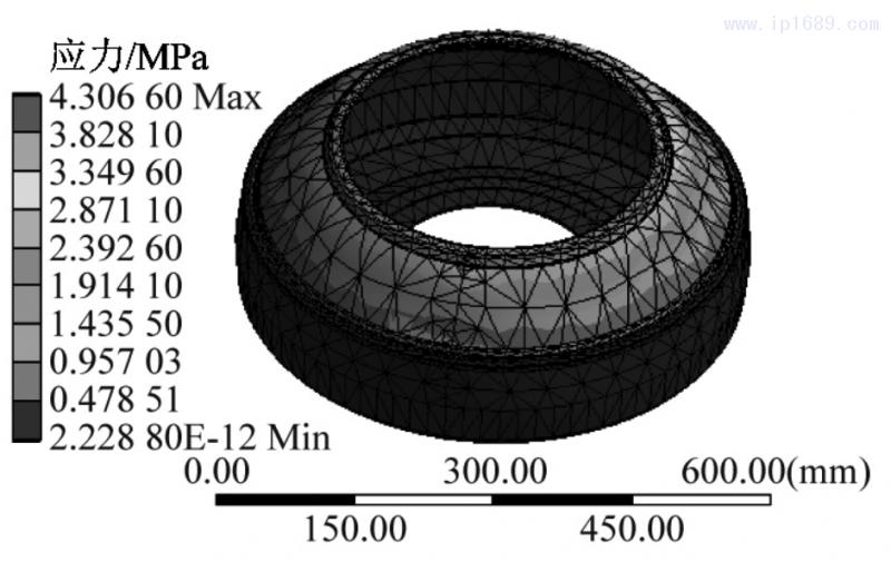 图 3 初始模型应力结果