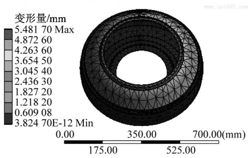 图 4 初始模型变形量结果