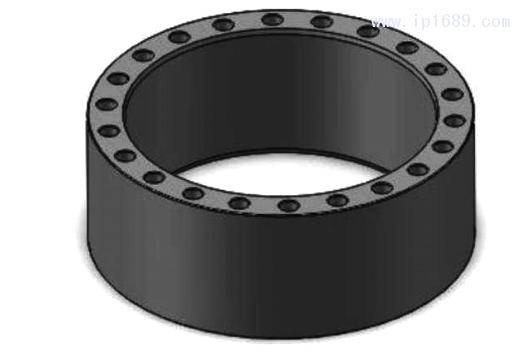 图 7 型坯 壁 厚 控制 液压 缸 筒 三 维模 型