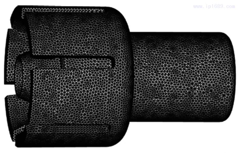 图3 汽车拉线接头网格模型