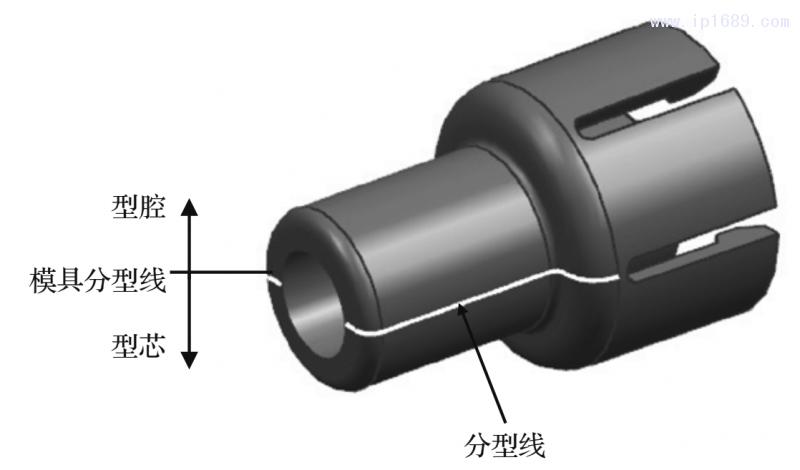 图7 分型面的设计