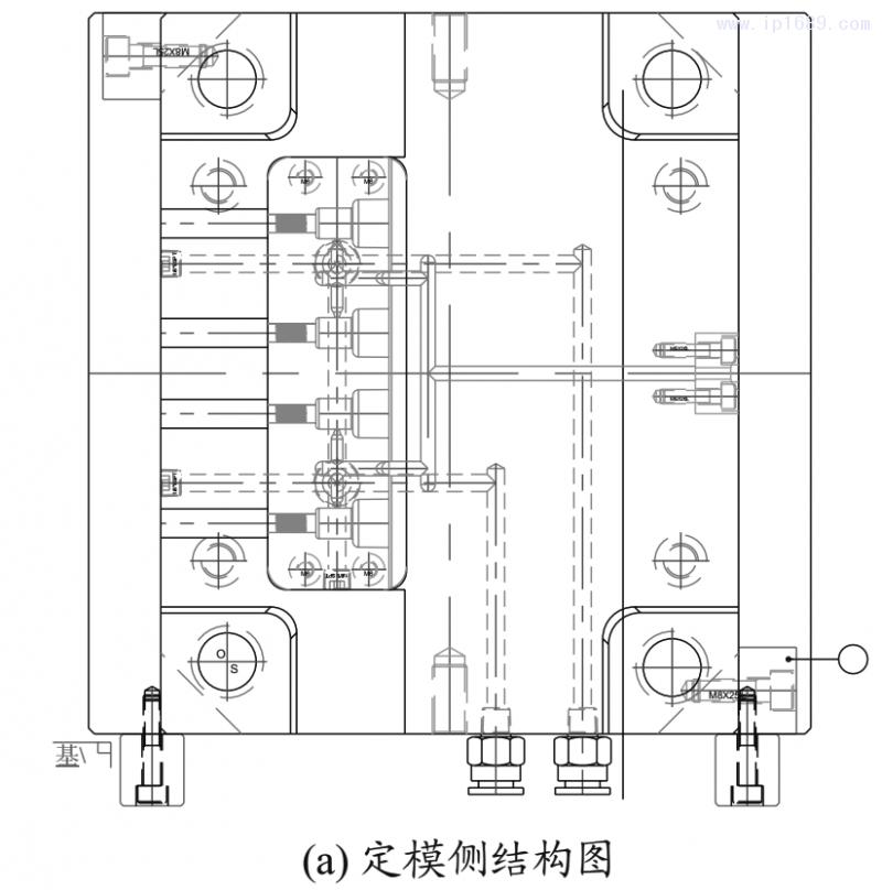 图8 汽车拉线接头的模具结构2D图1