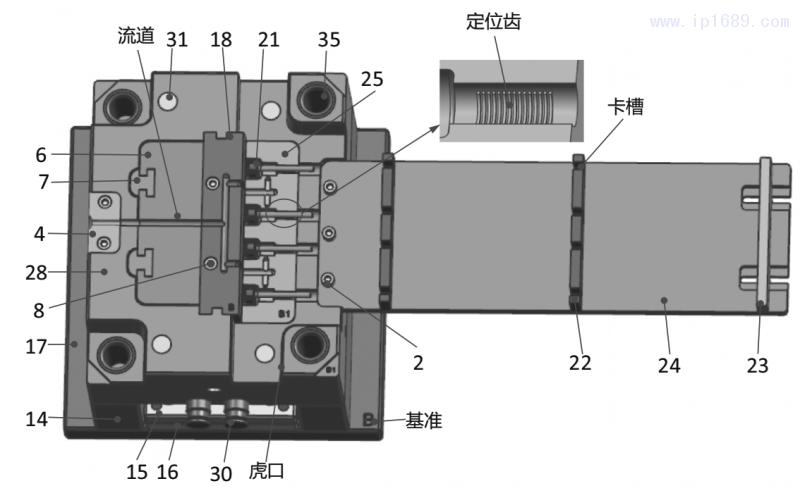 图10 动模侧模具结构3D图