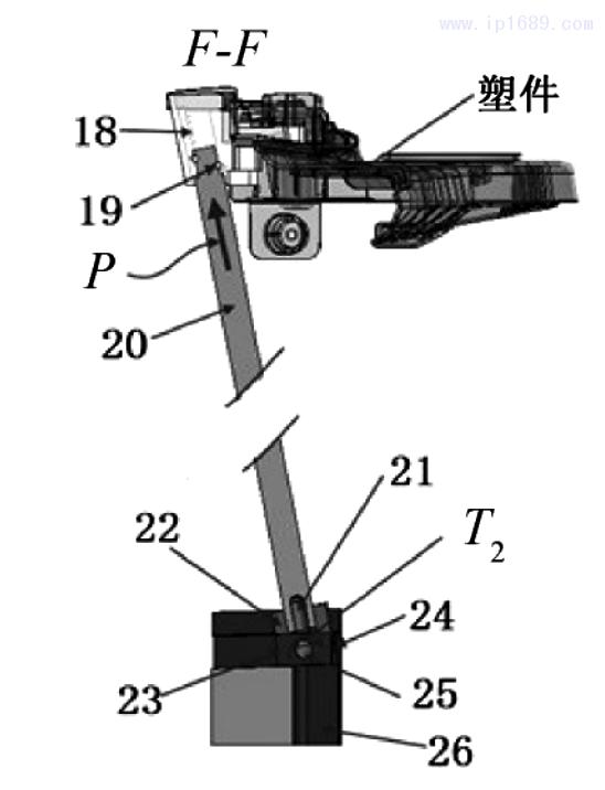 图 4 滑动座圆杆斜顶机构